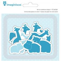 Высечки My Baby Giraffes & Hippos, Imaginisce, 400516