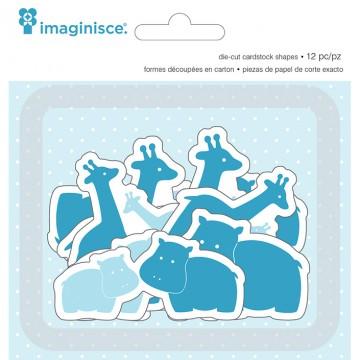 Купить Высечки My Baby Giraffes & Hippos, Imaginisce, 400516