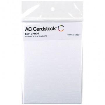 Купить Заготовки для открыток White, 13 × 18 см, 12 шт, American Crafts, 71346