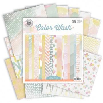 Купить Набор бумаги Color Wash, 15×15 см, Pink Paislee, PP01037