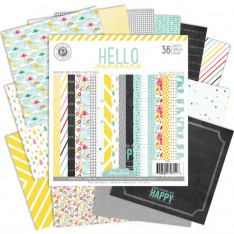Набор бумаги Hello Sunshine, 15×15 см, Pink Paislee, 01244