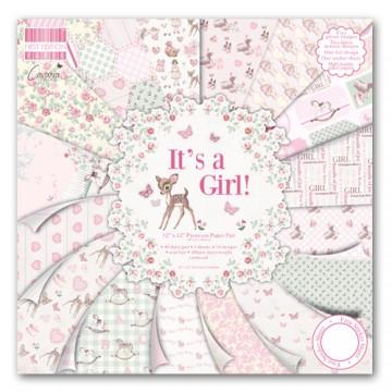 Купить Набор бумаги It s a Girl, 30×30 см, First Edition, FEPAD078