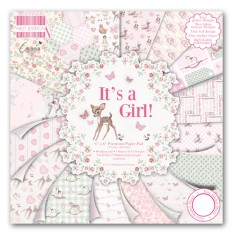 Набор бумаги It's a Girl, 15×15 см, First Edition, FEPAD080