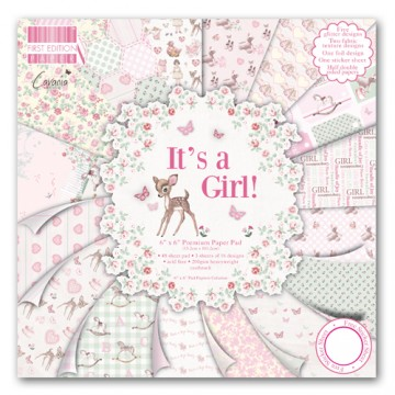 Купить Набор бумаги It's a Girl, 15×15 см, First Edition, FEPAD080