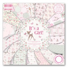 Набор бумаги It's a Girl, 20×20 см, First Edition, FEPAD079
