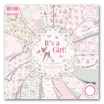 Купить Набор бумаги It's a Girl, 20×20 см, First Edition, FEPAD079