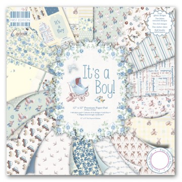 Купить Набор бумаги It s a Boy, 30×30 см, First Edition, FEPAD075