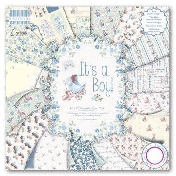 Купить Набор бумаги It's a Boy, 20×20 см, First Edition, FEPAD076