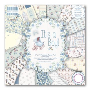Купить Набор бумаги It's a Boy, 15×15 см, First Edition, FEPAD077