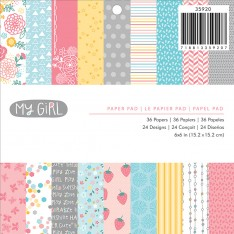 Набор бумаги My Girl, 15×15 см, American Crafts, 35920