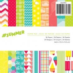 Набор бумаги #Summer, 15х15 см, American Crafts, 366984