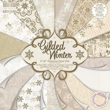 Купить Набор бумаги Gilded Winter, 15 × 15 см, First Edition, FEXPAD21