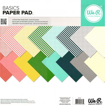 Купить Набор бумаги Basics, 30 х 30 см, WeR Memory Keepers, 662798