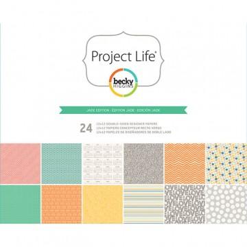 Купить Набор бумаги Jade, Project Life, 30х30 см, American Crafts, 380067