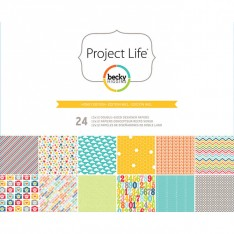 Набор бумаги Honey, Project Life, 30х30 см, American Crafts, 380066