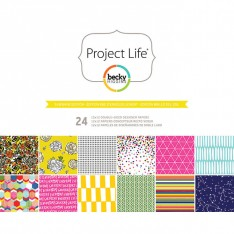 Набор бумаги Sunshine, Project Life, 30х30 см, American Crafts, 380172