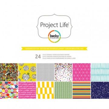 Купить Набор бумаги Sunshine, Project Life, 30х30 см, American Crafts, 380172