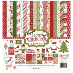 Набор бумаги I Love Christmas, 30х30см, Echo Park, ILC114016