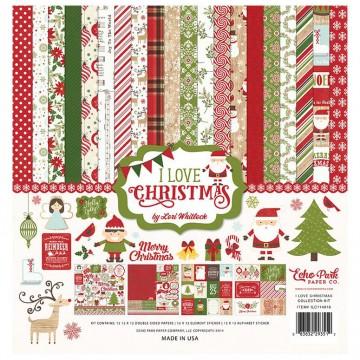 Купить набор бумаги I Love Christmas, 30х30см, Echo Park, ILC114016
