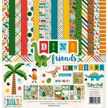Купить набор бумаги Dino Friends, 30х30см, Echo Park, DF102016