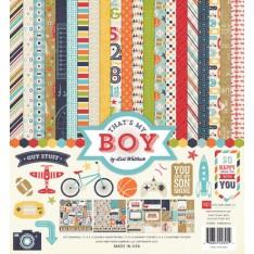 Набор бумаги That's My Boy, 30х30 см, Echo Park, TMB60016