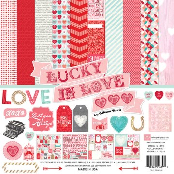 Купить набор бумаги Lucky In Love, 30х30 см, Echo Park, LIL77016