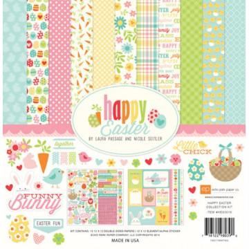 Набор бумаги Happy Easter, 30х30 см, Echo Park, HE83016
