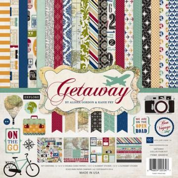 Купить набор бумаги Getaway, 30х30 см, Echo Park, GA63016