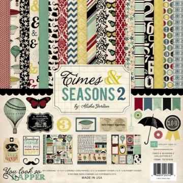Купить набор бумаги Times & Seasons Two, 30х30 см, Echo Park, TST57016