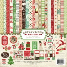 Набор бумаги Reflections Christmas, 30х30 см, Echo Park, RC55016