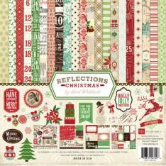 Набор бумаги Reflections Christmas, 30х30 см, Echo Park, RC55016