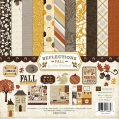 Набор бумаги Reflections Fall, 30х30 см, Echo Park, RF53016