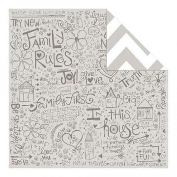 Купить Лист бумаги Family Rules, Family Forever, Bella BLVD, 717