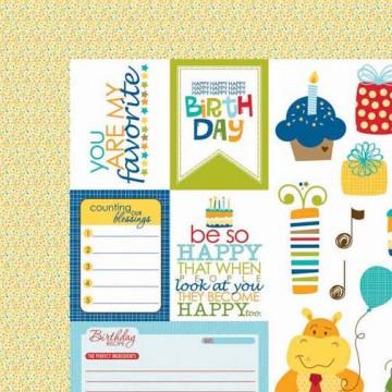 Купить Лист бумаги Cute Cuts, Birthday Boy, Bella BLVD, 477