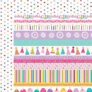 Купить Лист бумаги Borders, Birthday Girl, Bella BLVD, 457