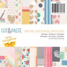 Набор бумаги Cut and Paste, 15×15 см, American Crafts, 366086