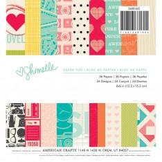 Набор бумаги Shimelle, 15×15 см, American Crafts, 368160