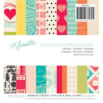 Купить Набор бумаги Shimelle, 15×15 см, American Crafts, 368160