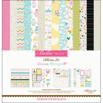 Купить Набор бумаги и наклеек Love & Marriage, Bella BLVD, 30×30 см, 623