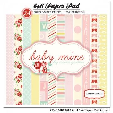 Купить Набор бумаги Baby Mine Girl, 15×15 см, Carta Bella, CBBMG26015