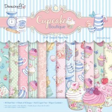 Купить Набор бумаги Cupcake Boutique 20×20 см, Dovecraft, DCDP133