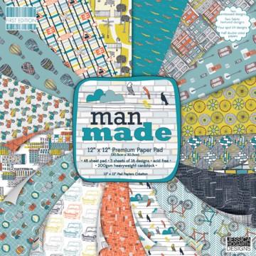 Купить Набор бумаги Man Made, 30×30 см, First Edition, FEPAD069