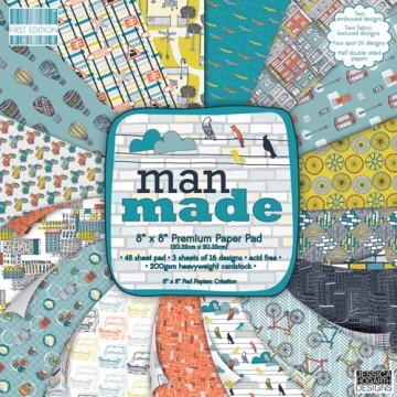 Купить Набор бумаги Man Made, 20×20 см, First Edition, FEPAD070