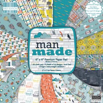 Купить Набор бумаги Man Made, First Edition, 15×15 см, FEPAD071