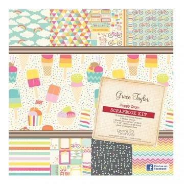 Купить Набор бумаги Happy Days, 30×30 см, Grace Taylor, GS2680