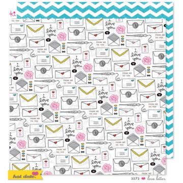 Купить Лист бумаги Love Letter, Hot Date, Ki Memories, KI3572
