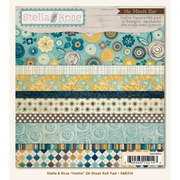 Купить Набор бумаги Hattie Stella and Rose, 15×15 см, My Mind's Eye, S&R214