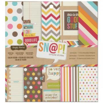 Купить Набор бумаги Color Fusion, 15×15 см, Simple Stories, SS2894