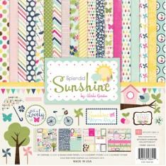 Набор бумаги и наклеек Splendid Sunshine, 30×30 см, Echo Park, SS61016