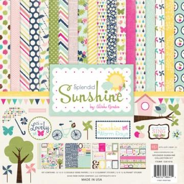 Купить Набор бумаги и наклеек Splendid Sunshine, 30×30 см, Echo Park, SS61016